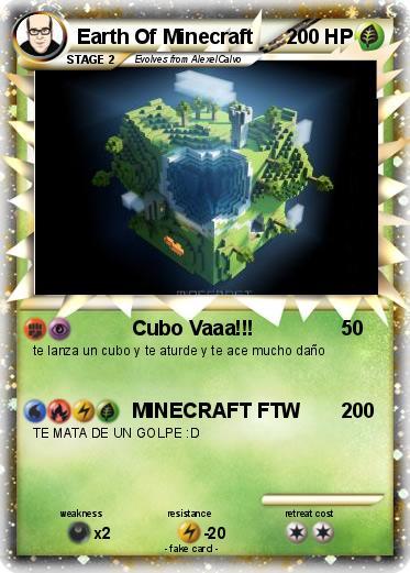 Pokemon Earth Of Minecraft Cubo Vaaa My Pokemon Card