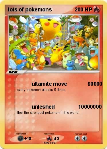 Pokmon lots of pokemons ultamite move 90000 my pokemon card pokemon lots of pokemons altavistaventures Images
