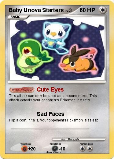 Pokemon Baby Unova Starters