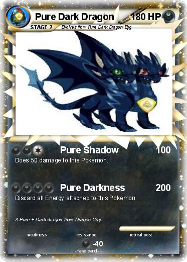 Pok mon Pure Dark Dragon 1 1 Pure Shadow My Pokemon Card
