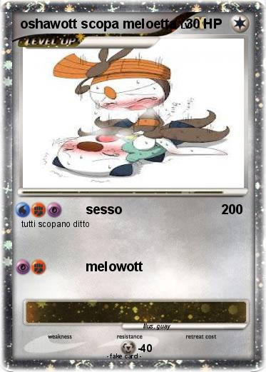 Pokémon oshawott scopa meloetta - sesso - My Pokemon Card