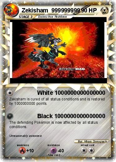 pok233mon zekisham 999999999 999999999 white