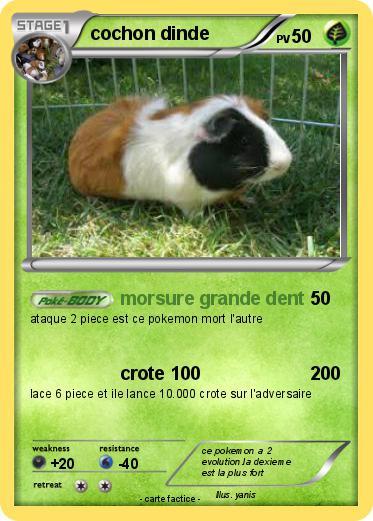 Pok mon cochon dinde 10 10 morsure grande dent ma - Cochon pokemon ...