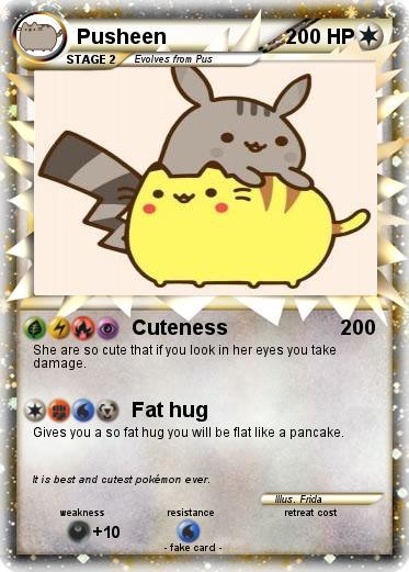 Pok 233 Mon Pusheen 273 273 Cuteness My Pokemon Card