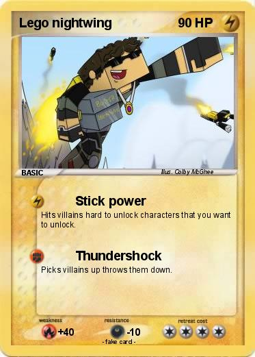 Pok 233 Mon Lego Nightwing 5 5 Stick Power My Pokemon Card