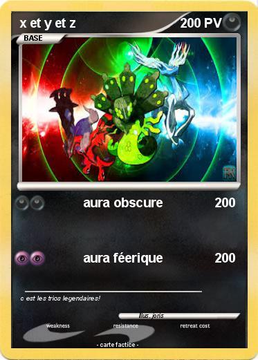 Pok mon x et y et z aura obscure ma carte pok mon - Pokemon x et y legendaire ...