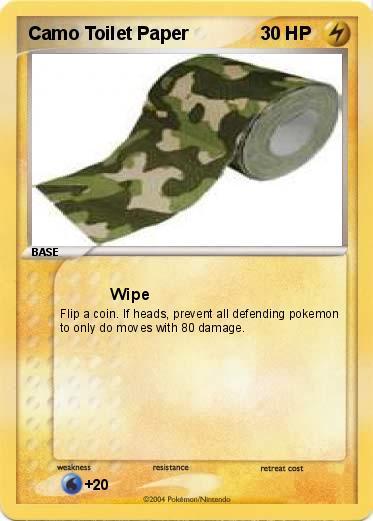 Pokémon Camo Toilet Paper - Wipe - My Pokemon Card