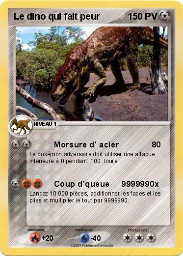 Pokemon Le Dino Qui Fait Peur Morsure D Acier Ma Carte Pokemon