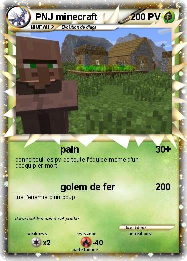 Pok mon pnj minecraft pain ma carte pok mon - Minecraft golem de fer ...