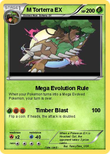 Pokémon M Torterra EX 4 4 - Mega Evolution Rule - My ...