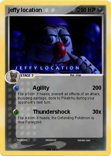 Pok mon jeffy location Agility
