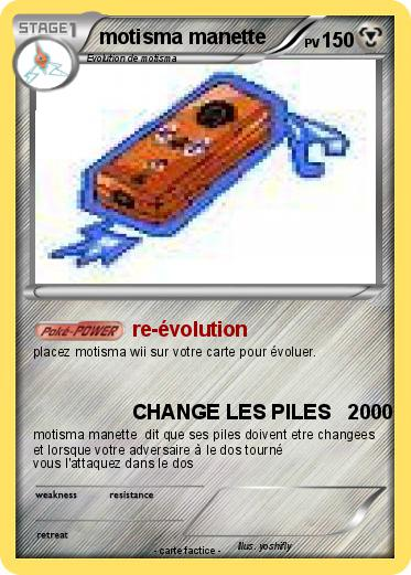 Pok mon motisma manette re volution ma carte pok mon - Motisma pokemon x ...