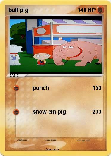 pokémon buff pig punch my pokemon card