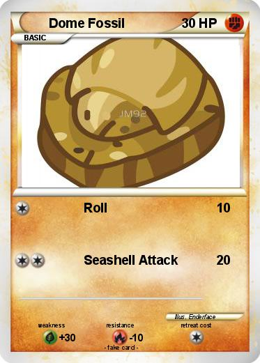 Pokemon yellow dome fossil used in dating