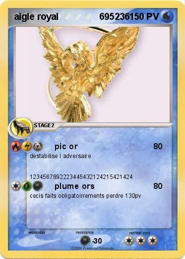 Pok mon aigle royal 695236 695236 pic or ma carte pok mon - Comment dessiner un aigle royal ...