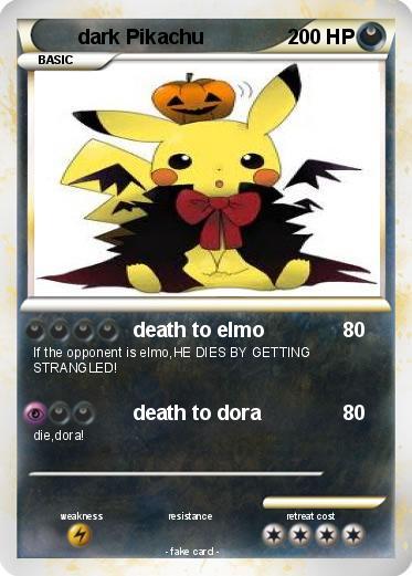 Pokémon Dark Pikachu 367 367 Death To Elmo My Pokemon Card