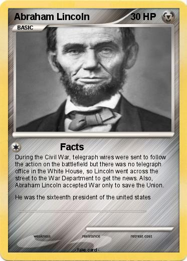 Pokémon Abraham Lincoln 46 46 - Facts - My Pokemon Card