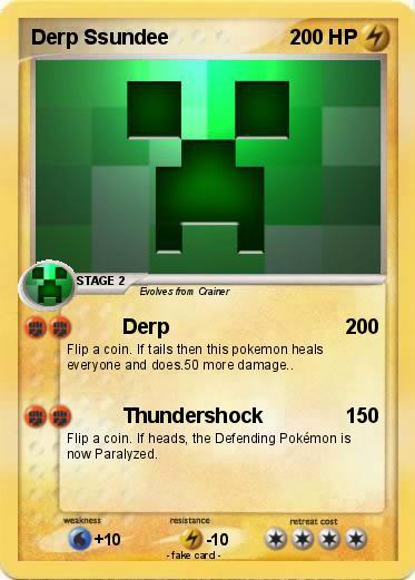 Pokémon Derp Ssundee 50 50 - Derp - My Pokemon Card