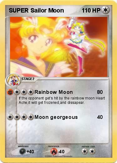Pokémon SUPER Sailor Moon 1 1 - Rainbow Moon - My Pokemon Card