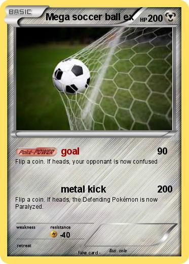 Pokémon Mega Soccer Ball Ex Goal My Pokemon Card