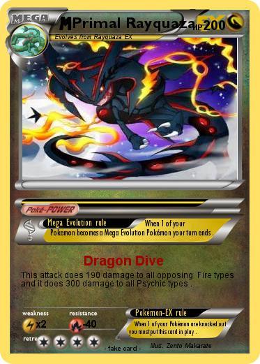 Pokémon Primal Rayquaza 40 40 - Dragon Dive - My Pokemon Card