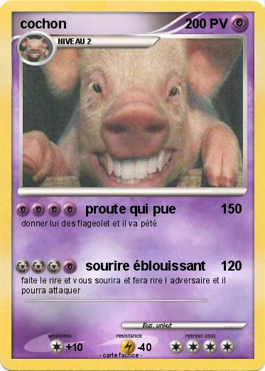 Pok mon cochon 249 249 proute qui pue ma carte pok mon - Cochon pokemon ...