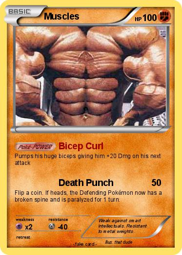 Pokémon Muscles 17 17 - Bicep Curl - My Pokemon Card