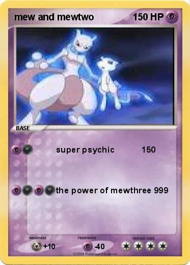 pokémon mew and mewtwo super psychic 150 my pokemon card