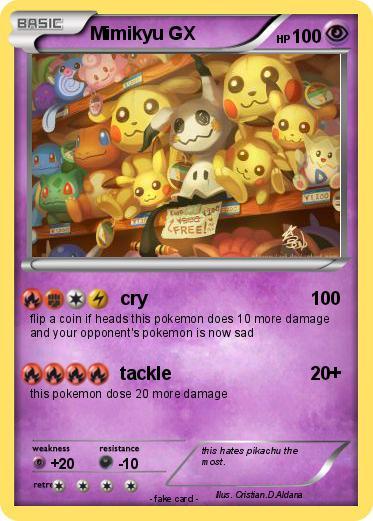 Pokémon Mimikyu Gx Cry My Pokemon Card