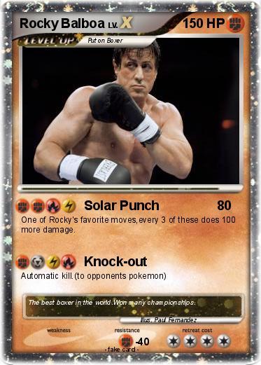 Pokémon Rocky Balboa 14 14 - Solar Punch - My Pokemon Card