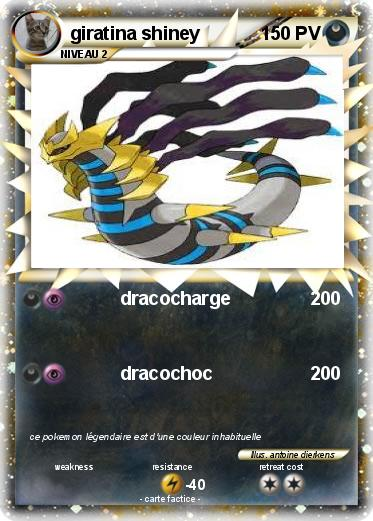 Pokémon Giratina Shiney 33 33 Dracocharge Ma Carte Pokémon