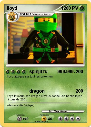 Pok mon lloyd 1 1 1 spinjitzu ma carte pok mon - Carte ninjago ...