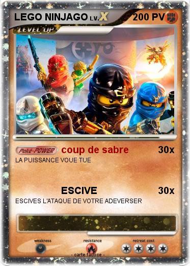 Pok mon lego ninjago 26 26 coup de sabre ma carte pok mon - Carte ninjago ...