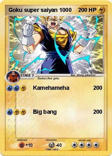 pokémon goku super saiyan 1000 1000 kamehameha my pokemon card