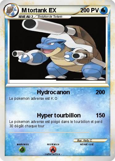 Pok mon m tortank ex 3 3 hydrocanon ma carte pok mon - Tortank pokemon y ...
