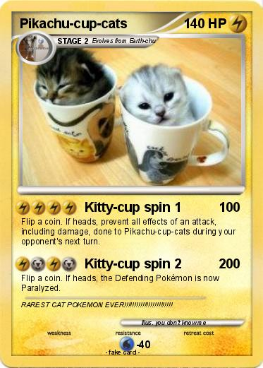 pokémon pikachu cup cats kitty cup spin 1 my pokemon card