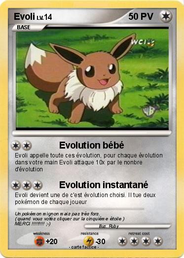 Pok mon evoli 205 205 evolution b b ma carte pok mon - Imprimer une carte pokemon ...