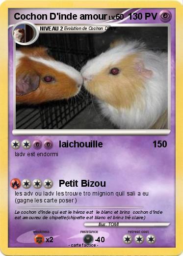 Coloriage De Bebe Cochon Dinde.Pokemon Cochon D Inde Amour Laichouille Ma Carte Pokemon