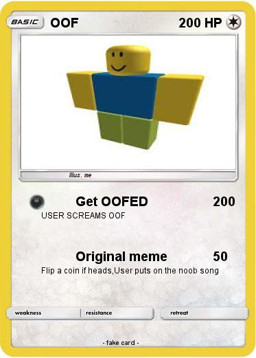 Pokémon OOF 95 95 - Get OOFED - My Pokemon Card