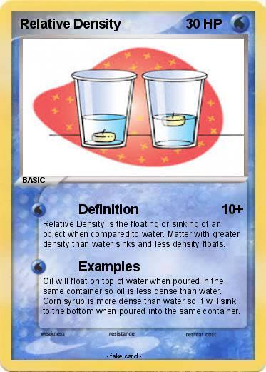 Pok 233 Mon Relative Density Definition My Pokemon Card