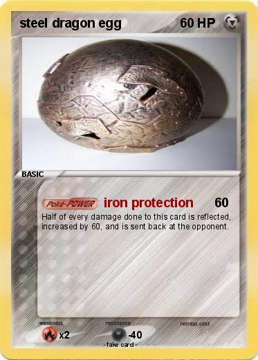 Pokémon steel dragon egg - iron protection - My Pokemon Card