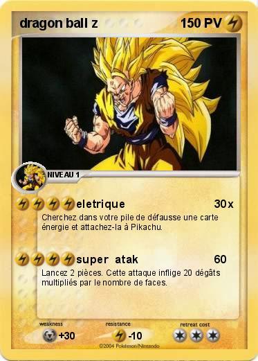 Pok mon dragon ball z 1 1 eletrique ma carte pok mon - Carte pokemon dragon ...