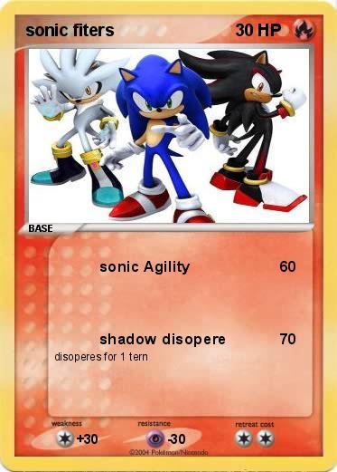 Pok mon sonic fiters sonic agility my pokemon card - Shadow the hedgehog pokemon ...