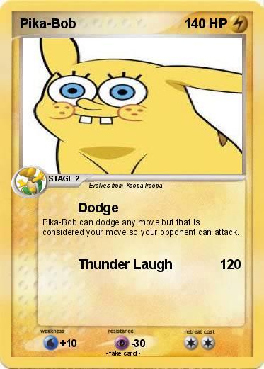 pokémon pika bob 3 3 dodge my pokemon card
