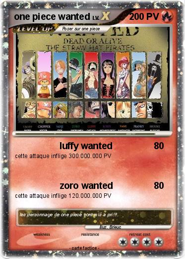 Pok mon one piece wanted luffy wanted ma carte pok mon - One piece a imprimer ...