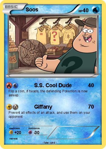 pokémon soos 12 12 s s cool dude my pokemon card