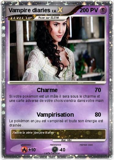 Pok mon vampire diaries 3 3 charme ma carte pok mon - Dessin vampire diaries ...