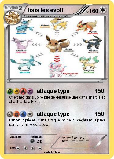 Pok mon tous les evoli attaque type ma carte pok mon - Pokemon noir 2 evoli ...