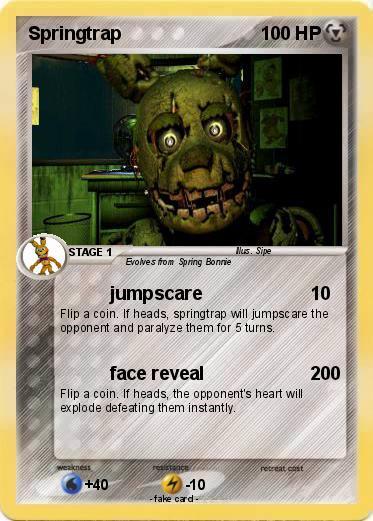 Pokémon Springtrap 522 522 - jumpscare - My Pokemon Card