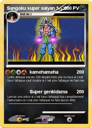 Pok mon sangoku super saiyan 5 5 kamehameha ma carte - Sangoku super sayen 2 ...